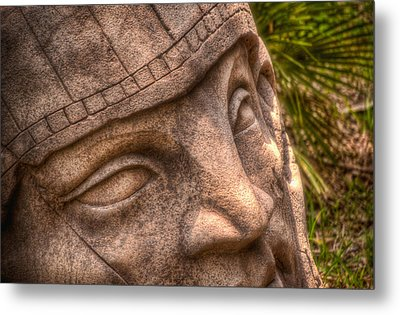 Metal Print featuring the photograph Stone Face by Joetta West