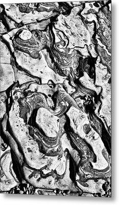 Stone Formation Point Lobos Metal Print