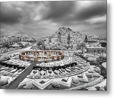 Stone Garden And Thai Lanna Pavilion Metal Print by Anek Suwannaphoom
