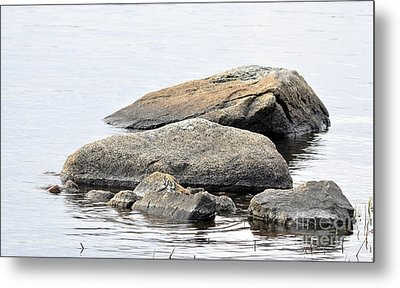 Stone In Calm Water Metal Print by Conny Sjostrom