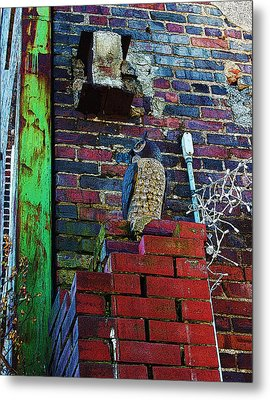 Metal Print featuring the photograph Stone Owl by Bob Whitt