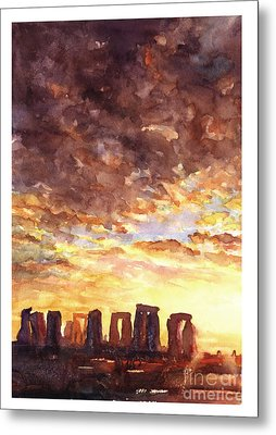 Stonehenge Sunrise Metal Print by Ryan Fox