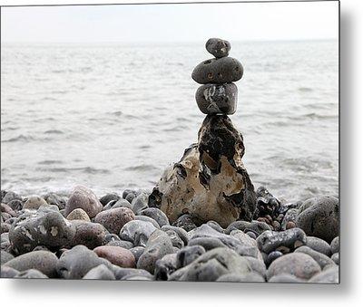 Stones At The Sea Metal Print by Falko Follert