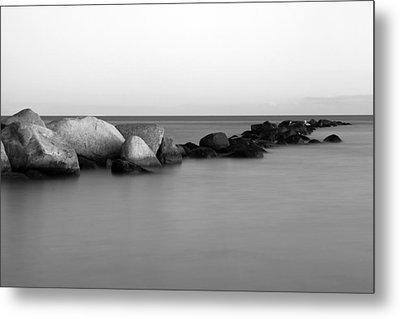 Stones In The Sea 4 Metal Print by Falko Follert