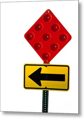 Stop And Turn Street Sign Metal Print by Blink Images