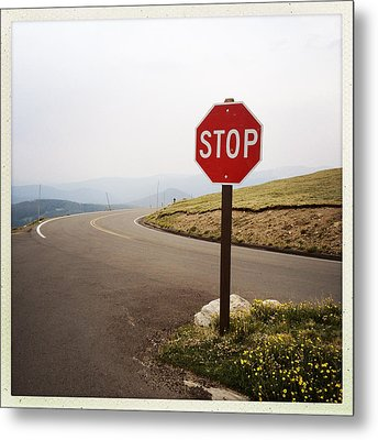 Stop Sign Metal Print by ©Natasha Japp Photography