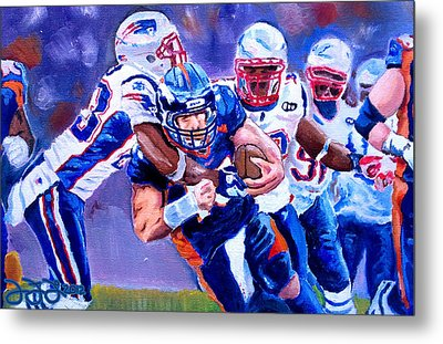 Stopping Tebow Metal Print by Donovan Furin