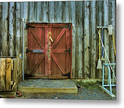 Storage Shed Metal Print by Steven Ainsworth