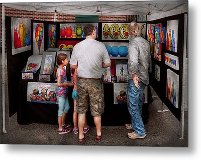 Store Front - Artist - Puppy Love  Metal Print by Mike Savad
