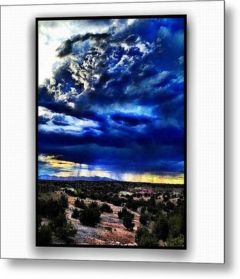 Storm A'comin Metal Print by Paul Cutright