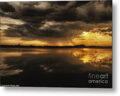 Metal Print featuring the photograph Storm Approaching by Linda Karlin