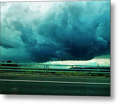 Metal Print featuring the digital art Storm Approaching  by Steve Taylor