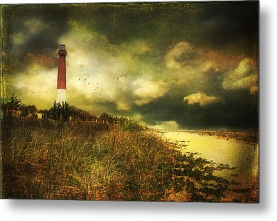 Storm At Barnegat Lighthouse Metal Print by John Rivera