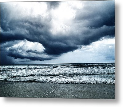Storm At Sea Metal Print by Barbara Middleton