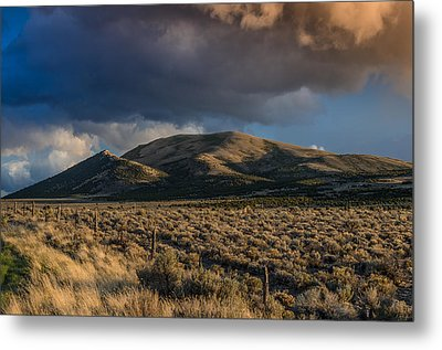 Storm Clearing Over Great Basin Metal Print by Greg Nyquist