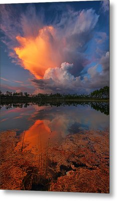 Storm Clouds At Dawn Metal Print by Claudia Domenig
