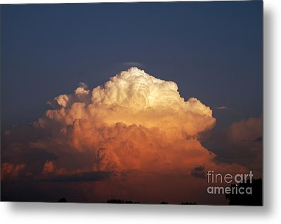 Metal Print featuring the photograph Storm Clouds At Sunset by Mark Dodd