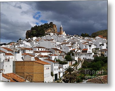 Storm Clouds Over Ardales Spain Metal Print by Mary Machare