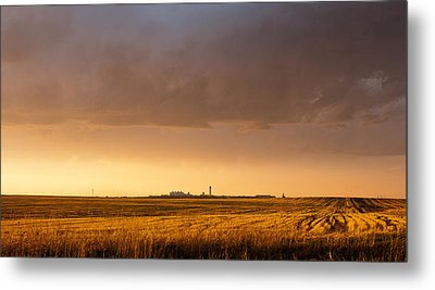Metal Print featuring the photograph Storm Clouds Over Dia by Monte Stevens