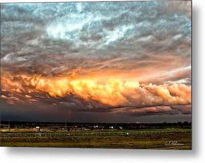 Storm Glow Metal Print by Christopher Holmes