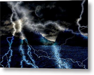 Storm In The Blue Mountains Metal Print by Angel Jesus De la Fuente
