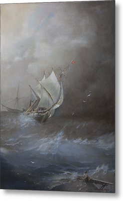 Storm On The Arctic Ocean Metal Print by Oleg Gorovoy