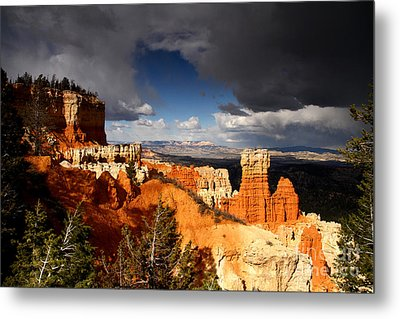 Storm Over Bryce Canyon Metal Print by Butch Lombardi
