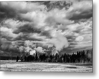 Storm Over Firehole Lake Drive Metal Print by Daniel Hagerman