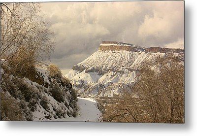 Storm Over Mt Garfield Metal Print