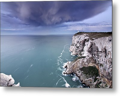 Storm Over Sea Metal Print by Paco Costa