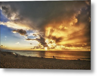 Storm Over Sunset Beach Hawaii Metal Print by Verity Milligan