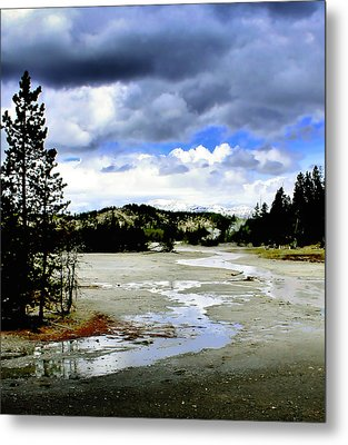 Stormclouds Over Norris Basin Metal Print by Ellen Heaverlo