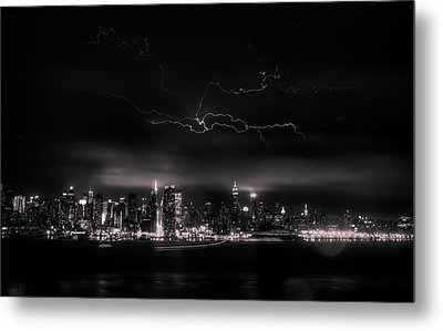 Storming Into The Night Metal Print by David Hahn