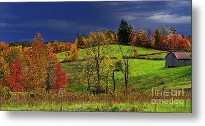 Stormy Autumn Morning Metal Print by Thomas R Fletcher