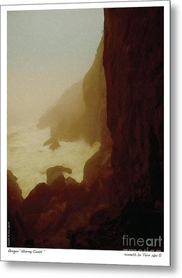 Stormy Coast Metal Print by Kenneth De Tore