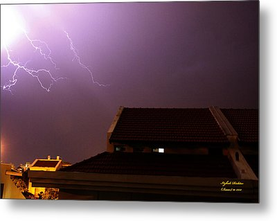 Metal Print featuring the photograph Stormy Night by Itzhak Richter