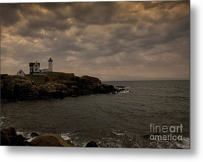 Stormy Nubble Metal Print by Timothy Johnson