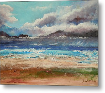 Stormy Shore Metal Print by Dan Whittemore