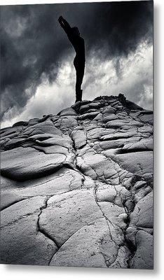 Stormy Silhouette Metal Print by Stelios Kleanthous