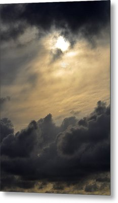 Metal Print featuring the photograph Stormy Skies by Sarah McKoy