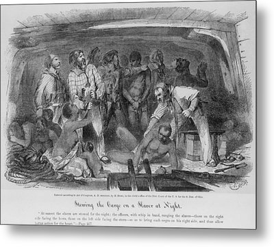 Stowing African Captives In A Slave Metal Print by Everett