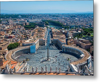 St.peter's Square And Part Of Rome Metal Print