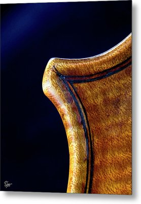 Metal Print featuring the photograph Stradivarius Corner Closeup by Endre Balogh