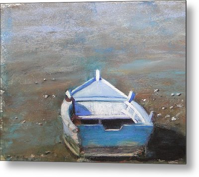 Metal Print featuring the painting Stranded by Cindy Plutnicki