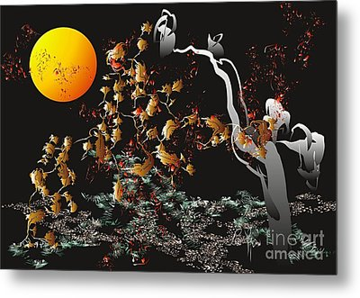Metal Print featuring the digital art Strange Autumn 2011  by Leo Symon