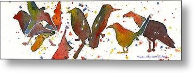 Strange Birds Metal Print by Miindy Newman
