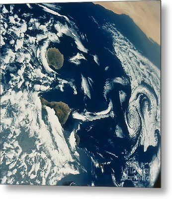 Stratus Cloud Formations Over Canary Metal Print by Nasa