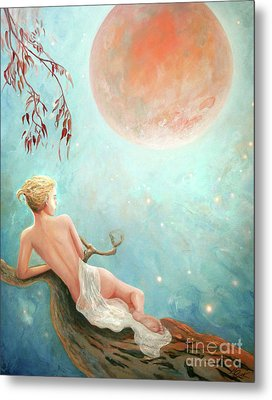 Strawberry Moon Nymph Metal Print by Michael Rock