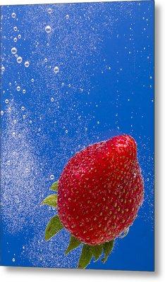 Strawberry Soda Dunk 4 Metal Print by John Brueske