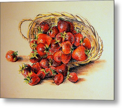 Strawberry Metal Print by Svetlana Nassyrov